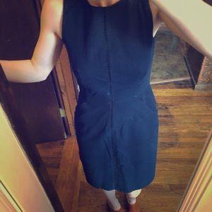 Jcrew navy cotton pencil dress